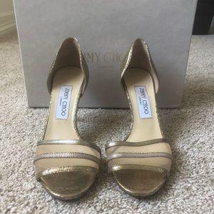 Gold Glittery Jimmy Choo Heels (37)